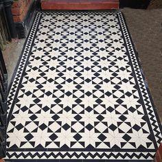 Victorian black and white mosaic tile front garden path Sheen Richmond ...