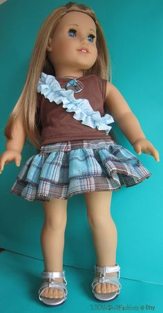 Layered ruffle skirt with sleeveless top to by LilChicDollFashions, $20.00