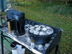 dutch oven cooking http://thesurvivalmom.com/2011/01/13/a-dutch-oven-cooking-primer-part-2-cooking-tips-recipes/