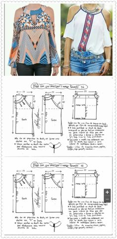 New sewing patterns free clothes shirts ideas Dress Sewing Patterns, Sewing Patterns Free, Sewing Tutorials, Clothing Patterns, Blouse Pattern Free, Blouse Patterns, Fashion Sewing, Diy Fashion, Free Clothes