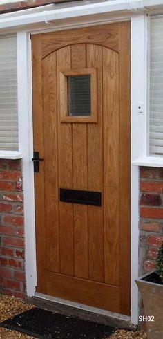 oak door swept head vision