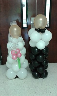 Bride and Groom by Blissful Balloons