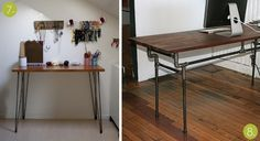 Check out our roundup of 10 Easy #DIY worktops and desks you can make yourself!