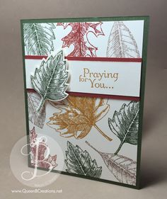 PPA272 sketch challenge handmade fall leaves card made using Stampin' Up! Vintage Leaves stamp set