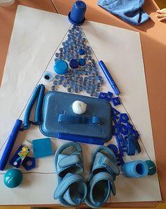 sapin-bleu à la manière de Tony Cragg