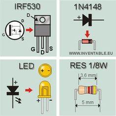 Montaje de algunos componentes usados en el regulador Más