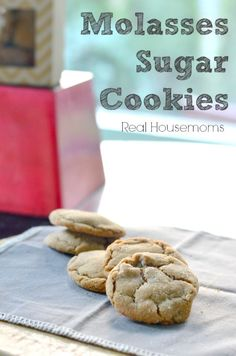 Molasses Sugar Cookies_Real Housemoms