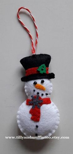 Felt Snowman Christmas Decoration/Ornament.Snowman