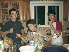 Look how young they are!!! :) They are so cute omg! Kevin, Nick, and Joe!