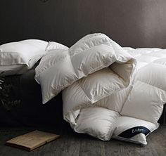 Globon Fusion White Goose Down Comforter King Size,Heavy Weight for Winter, 650 696567111633