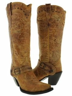 Cowboy Professional - Women's Tan Distressed Tall Shaft Genuine Leather Cowboy Boots with Snip Toe Size 6.5 Cowboy Professional Boot Company,http://www.amazon.com/dp/B00E0RW9BM/ref=cm_sw_r_pi_dp_OlMDtb1TWBPZN6F8