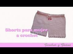 Pantalón corto – Bermuda – shorts para mujer tejido a crochet - YouTube