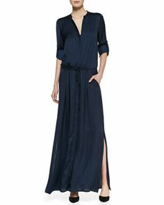 Flowy Maxi Shirtdress by Vince at Bergdorf Goodman.