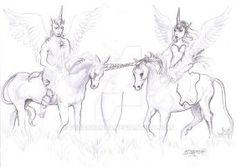 Tariel and Atarn's Marriage by pegacorna2