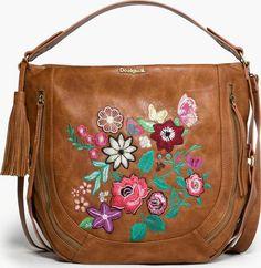 Desigual hnědá kabelka Marteta Lily s výšivkami 27534b86c64