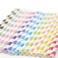 striped paper straws by peach blossom | notonthehighstreet.com