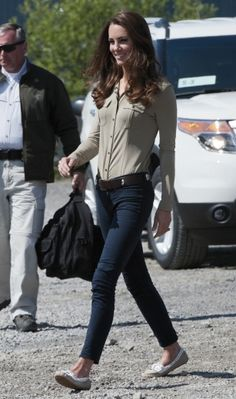 Kate Middleton scores a J Brand hat trick in Canada
