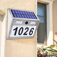 Solar House Numbers, House Address Numbers, Solar Lamp, Solar Lights, Led Lighting Home, Applique Led, Long Lights, Garden Doors, Windy Day