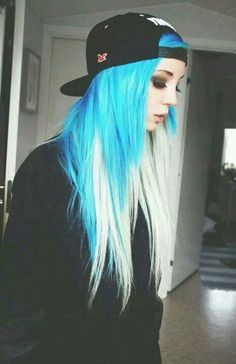 This is really cool. I was wanting ombre hair but blue on the top instead of the bottom would be cool!