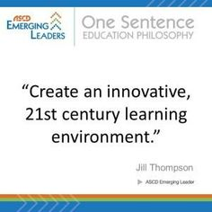 Jill Thompson on what education should be today.