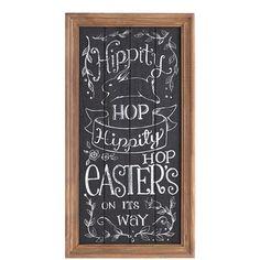 Hippity Hop Chalkboard Easter Sign 39.95