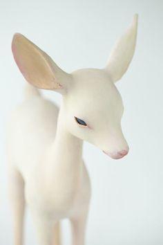 bienenkiste: Sculpture by Yoshimasa Tsuchiya Art Sculpture, Animal Sculptures, Bambi, Image Mode, Myths & Monsters, Photo Images, Illustration Art, Illustrations, Ball Jointed Dolls
