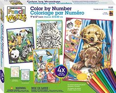 Dimensions Pencil by Number, Friendly Animals Variety Pack -- You can get additional details at