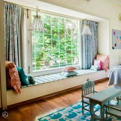 New ideas kitchen window seat curtains spaces Indian Home Decor, Curtains Living Room, Bedroom Design, Apartment Bedroom Decor, Trendy Living Rooms, House Interior, Apartment Decor, Home Interior Design, House Interior Decor