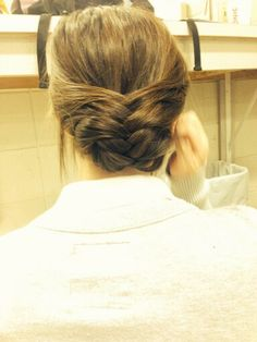 Quick fast and easy fishtail updo and tuck