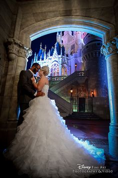 The All Disney Wedding Gallery on Disney's Fairy Tale Weddings is a collection of photos featuring Disney-themed wedding ideas and wedding inspiration. Disney World Wedding, Disney Inspired Wedding, Disney Wedding Dresses, Wedding Dress Cake, Disney Dresses, Disney Weddings, Beau Film, Magical Wedding, Perfect Wedding