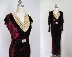 Vintage 1930s Dress / 3 Piece Set / Silk Velvet Dream / S