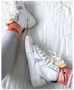 Sneaker Outfits, Converse Sneaker, Puma Sneaker, Nike Blazers Outfit, Nike Outfits, Sneakers Mode, Sneakers Fashion, New Sneakers, Nick Shoes