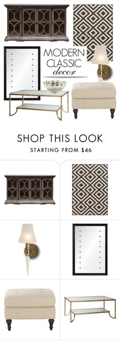 """""""Modern Classic Decor"""" by kathykuohome ❤ liked on Polyvore featuring interior, interiors, interior design, home, home decor, interior decorating, modern, livingroom, Home and homedecor"""