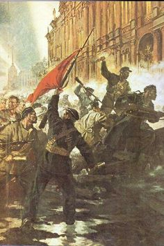Assault on the Winter Palace, Petrograd, October 1917