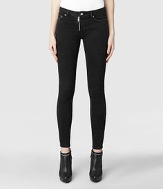 Womens Track/Washed Black (Washed Black)   ALLSAINTS.com - Like the zipper fly on these.