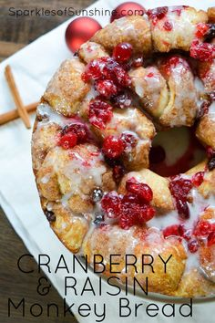 Celebrate the holidays with a tasty recipe for Cranberry & Raisin Monkey Bread. via @christieselken