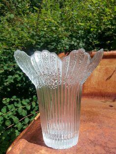 Finnish Finland Vintage art glass from Mäntsälän Lasisepät large vase.. design by Pertti Kallioinen.... by fcollectables, €35.00