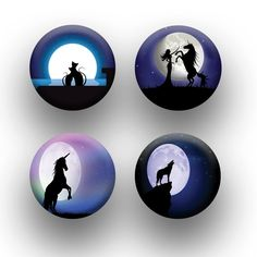 A pack of 4 moonlit silhouette theme Pattern weights Ideal for weighing down patterns on delicate fabrics no need for pins TV sewing Bee by RICEMETALS on Etsy