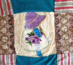 Vintage Folk Art Sunbonnet Sue Quilt Top from etsy