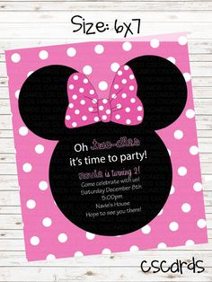 Minnie Mouse Birthday Party! Digital Copy Only! on Etsy, $12.00