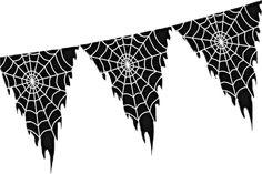 Griezelige vlaglijn met spinnenwebben. Helemaal leuk voor een gaaf griezelfeestje of Halloween feest! Deze vlaglijn is 10 meter lang! De vlaggetjes van van plastic, zijn aan beide zijde bedrukt en hebben een stoer rafelig effect aan de zijkanten.