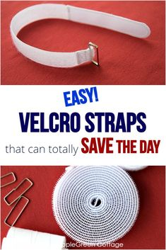 The easiest diy Velcro straps you'll ever make! Easy Sewing Projects, Sewing Hacks, Sewing Tutorials, Sewing Tips, Sewing Ideas, Sewing Patterns, Skirt Patterns, Dress Tutorials, Coat Patterns