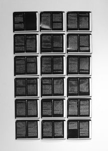"""Each of the 18 images in this series is a contact print of a photocopied page from Walter Benjamin's essay on """"The Work of Art in the Age of Mechanical Reproduction"""". Art In The Age, Cultural Artifact, Angel, History, Artwork, Secret Quotes, D Day, Historia, Work Of Art"""