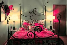 Black and Pink Bedroom