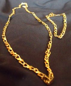 Gold Filled Chain Necklace and Bracelet Set by EstatesInTime