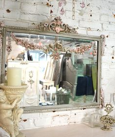 Painted Cottage Shabby Romantic Mirror by paintedcottages on Etsy