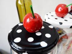 DIY Cherries On Top Candy Storage