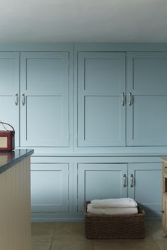 Cupboard in Blue Ground, Estate Eggshell; one more example in favor of painting the cabinetry!