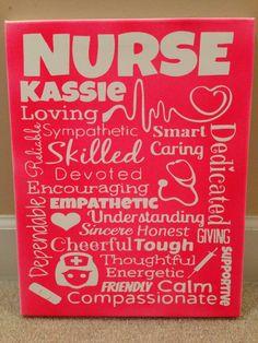 Custom Canvas Nurse Subway Art by ModernMomDecor on Etsy