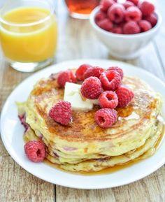 Raspberry lemon ricotta pancakes: http://www.stylemepretty.com/living/2015/12/24/santa-approved-recipes-for-christmas-morning/: